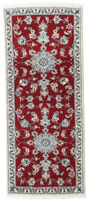Nain Χαλι 80X200 Ανατολής Χειροποιητο Χαλι Διαδρομοσ Σκούρο Κόκκινο/Kόκκινα (Μαλλί, Περσικά/Ιρανικά)