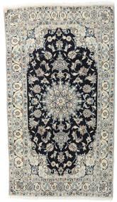 Nain Χαλι 118X210 Ανατολής Χειροποιητο Ανοιχτό Γκρι/Σκούρο Γκρι (Μαλλί, Περσικά/Ιρανικά)