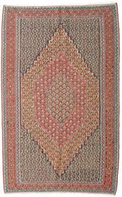 Κιλίμ Senneh Χαλι 152X245 Ανατολής Χειροποίητη Ύφανση Ανοιχτό Γκρι/Σκούρο Κόκκινο (Μαλλί, Περσικά/Ιρανικά)