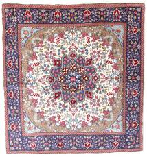 Kerman Χαλι 192X206 Ανατολής Χειροποιητο Τετράγωνο Σκούρο Μωβ/Μπεζ (Μαλλί, Περσικά/Ιρανικά)