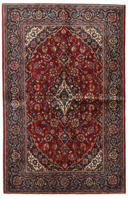 Keshan Χαλι 135X209 Ανατολής Χειροποιητο Σκούρο Κόκκινο/Σκούρο Καφέ (Μαλλί, Περσικά/Ιρανικά)