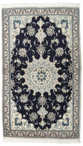 Nain Χαλι 90X152 Ανατολής Χειροποιητο Μαύρα/Σκούρο Γκρι (Μαλλί, Περσικά/Ιρανικά)