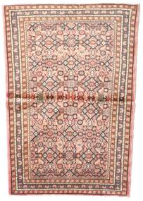 Hosseinabad Χαλι 102X145 Ανατολής Χειροποιητο Ανοιχτό Ροζ/Ανοιχτό Καφέ (Μαλλί, Περσικά/Ιρανικά)