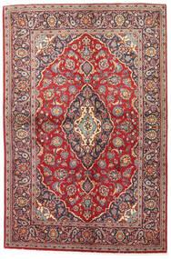 Keshan Χαλι 141X215 Ανατολής Χειροποιητο Σκούρο Κόκκινο/Καφέ (Μαλλί, Περσικά/Ιρανικά)
