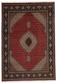 Tabriz 40 Raj Χαλι 205X296 Ανατολής Χειροποίητη Ύφανση Σκούρο Κόκκινο (Μάλλινα/Μεταξωτά, Περσικά/Ιρανικά)