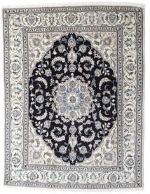 Nain Χαλι 196X253 Ανατολής Χειροποιητο Ανοιχτό Γκρι/Σκούρο Γκρι (Μαλλί, Περσικά/Ιρανικά)
