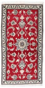 Nain Χαλι 70X139 Ανατολής Χειροποιητο Kόκκινα/Ανοιχτό Γκρι (Μαλλί, Περσικά/Ιρανικά)
