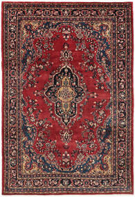 Hamadan Shahrbaf Χαλι 209X315 Ανατολής Χειροποιητο Σκούρο Κόκκινο/Σκούρο Μπλε (Μαλλί, Περσικά/Ιρανικά)