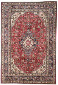 Tabriz Χαλι 196X298 Ανατολής Χειροποιητο Σκούρο Κόκκινο/Ανοιχτό Γκρι (Μαλλί, Περσικά/Ιρανικά)