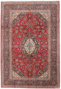 Keshan Χαλι 198X288 Ανατολής Χειροποιητο Σκούρο Κόκκινο/Σκούρο Καφέ (Μαλλί, Περσικά/Ιρανικά)
