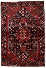 Hamadan Χαλι 154X227 Ανατολής Χειροποιητο Σκούρο Καφέ/Σκούρο Κόκκινο (Μαλλί, Περσικά/Ιρανικά)