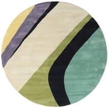Dynamic Handtufted - Mint Χαλι Ø 200 Σύγχρονα Στρογγυλο Σκούρο Μπεζ/Σκούρο Γκρι/Παστέλ Πράσινο (Μαλλί, Ινδικά)