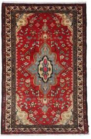 Hamadan Χαλι 79X121 Ανατολής Χειροποιητο Σκούρο Κόκκινο/Σκούρο Καφέ (Μαλλί, Περσικά/Ιρανικά)