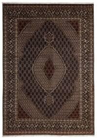 Tabriz 40 Raj Χαλι 204X293 Ανατολής Χειροποιητο Σκούρο Κόκκινο/Σκούρο Καφέ (Μάλλινα/Μεταξωτά, Περσικά/Ιρανικά)