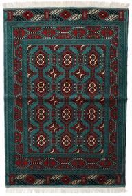 Turkaman Χαλι 105X150 Ανατολής Χειροποιητο Μαύρα/Σκούρο Τυρκουάζ (Μαλλί, Περσικά/Ιρανικά)