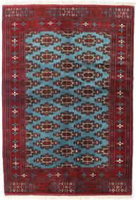 Turkaman Χαλι 133X190 Ανατολής Χειροποιητο Σκούρο Κόκκινο/Μπλε (Μαλλί, Περσικά/Ιρανικά)