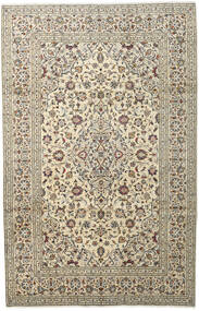 Keshan Χαλι 198X307 Ανατολής Χειροποιητο Ανοιχτό Γκρι/Μπεζ (Μαλλί, Περσικά/Ιρανικά)