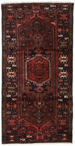 Hamadan Χαλι 109X210 Ανατολής Χειροποιητο Σκούρο Καφέ/Σκούρο Κόκκινο (Μαλλί, Περσικά/Ιρανικά)
