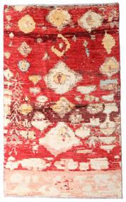 Moroccan Berber - Afghanistan Χαλι 123X202 Σύγχρονα Χειροποιητο Στο Χρώμα Της Σκουριάς/Σκούρο Κόκκινο (Μαλλί, Αφγανικά)