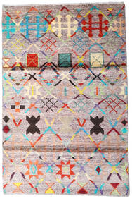 Moroccan Berber - Afghanistan Χαλι 119X177 Σύγχρονα Χειροποιητο Μπεζ/Σκούρο Γκρι (Μαλλί, Αφγανικά)