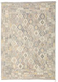 Κιλίμ Afghan Old Style Χαλι 246X349 Ανατολής Χειροποίητη Ύφανση Ανοιχτό Γκρι/Σκούρο Μπεζ (Μαλλί, Αφγανικά)