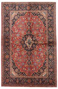 Keshan Χαλι 138X215 Ανατολής Χειροποιητο Σκούρο Κόκκινο/Σκούρο Καφέ (Μαλλί, Περσικά/Ιρανικά)