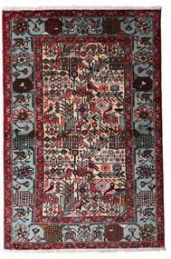 Hamadan Χαλι 100X150 Ανατολής Χειροποιητο Μαύρα/Σκούρο Κόκκινο (Μαλλί, Περσικά/Ιρανικά)