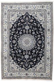 Nain Χαλι 197X290 Ανατολής Χειροποιητο Ανοιχτό Γκρι/Σκούρο Γκρι (Μαλλί, Περσικά/Ιρανικά)