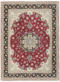 Tabriz 50 Raj Χαλι 152X205 Ανατολής Χειροποιητο Ανοιχτό Γκρι/Μπεζ (Μάλλινα/Μεταξωτά, Περσικά/Ιρανικά)