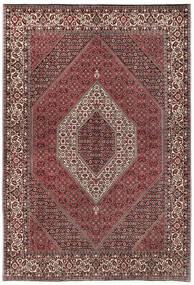 Bidjar Με Μετάξι Χαλι 170X244 Ανατολής Χειροποιητο Σκούρο Καφέ/Σκούρο Κόκκινο (Μάλλινα/Μεταξωτά, Περσικά/Ιρανικά)