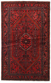 Hamadan Χαλι 127X209 Ανατολής Χειροποιητο Σκούρο Κόκκινο/Σκούρο Καφέ (Μαλλί, Περσικά/Ιρανικά)