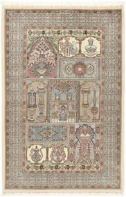 Ilam Sherkat Farsh Μετάξι Χαλι 148X223 Ανατολής Χειροποιητο Ανοιχτό Γκρι/Μπεζ (Μάλλινα/Μεταξωτά, Περσικά/Ιρανικά)