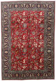 Tabriz Χαλι 203X295 Ανατολής Χειροποιητο Σκούρο Κόκκινο/Μαύρα (Μαλλί, Περσικά/Ιρανικά)