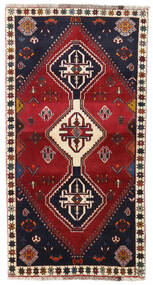 Ghashghai Χαλι 98X185 Ανατολής Χειροποιητο Σκούρο Κόκκινο/Μαύρα (Μαλλί, Περσικά/Ιρανικά)