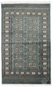 Pakistan Μπουχαρα 3Ply Χαλι 92X151 Ανατολής Χειροποιητο Σκούρο Γκρι/Σκούρο Πράσινο (Μαλλί, Πακιστανικά)