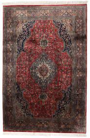 Keshan Indo Χαλι 184X278 Ανατολής Χειροποιητο Σκούρο Καφέ/Σκούρο Κόκκινο (Μαλλί, Ινδικά)
