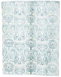 Sari Καθαρό Μετάξι Χαλι 153X200 Σύγχρονα Χειροποιητο Λευκό/Κρεμ/Ανοικτό Μπλε (Μεταξωτά, Ινδικά)