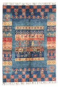 Μοντέρνα Afghan Χαλι 87X124 Σύγχρονα Χειροποιητο Σκούρο Μπλε/Μπλε (Μαλλί, Αφγανικά)
