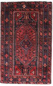 Hamadan Χαλι 90X140 Ανατολής Χειροποιητο Μαύρα/Σκούρο Κόκκινο (Μαλλί, Περσικά/Ιρανικά)