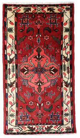 Hamadan Χαλι 75X135 Ανατολής Χειροποιητο Σκούρο Κόκκινο/Λευκό/Κρεμ (Μαλλί, Περσικά/Ιρανικά)