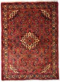 Hamadan Χαλι 105X145 Ανατολής Χειροποιητο Σκούρο Κόκκινο/Σκούρο Καφέ (Μαλλί, Περσικά/Ιρανικά)
