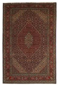 Tabriz 40 Raj Χαλι 201X312 Ανατολής Χειροποιητο Σκούρο Κόκκινο/Σκούρο Καφέ/Καφέ (Μάλλινα/Μεταξωτά, Περσικά/Ιρανικά)