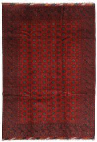 Afghan Χαλι 202X283 Ανατολής Χειροποιητο Σκούρο Κόκκινο/Σκούρο Καφέ (Μαλλί, Αφγανικά)