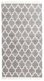 Μπαμπού Μετάξι Κιλίμ Χαλι 90X160 Σύγχρονα Χειροποίητη Ύφανση Ανοιχτό Γκρι/Λευκό/Κρεμ (Μαλλί/Μπαμπού Μετάξι, Ινδικά)