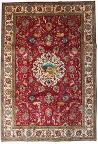 Tabriz Χαλι 246X355 Ανατολής Χειροποιητο Σκούρο Κόκκινο/Σκούρο Καφέ (Μαλλί, Περσικά/Ιρανικά)