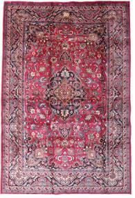 Mashad Χαλι 198X290 Ανατολής Χειροποιητο Σκούρο Μωβ/Ανοιχτό Ροζ (Μαλλί, Περσικά/Ιρανικά)