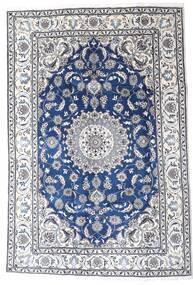 Nain Χαλι 195X290 Ανατολής Χειροποιητο Ανοιχτό Γκρι/Λευκό/Κρεμ (Μαλλί, Περσικά/Ιρανικά)