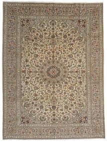 Keshan Χαλι 292X389 Ανατολής Χειροποιητο Ανοιχτό Γκρι/Ανοιχτό Καφέ Μεγαλα (Μαλλί, Περσικά/Ιρανικά)
