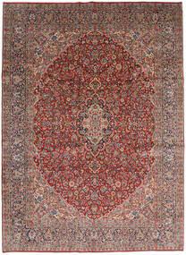 Kerman Χαλι 270X370 Ανατολής Χειροποιητο Σκούρο Γκρι/Σκούρο Κόκκινο Μεγαλα (Μαλλί, Περσικά/Ιρανικά)