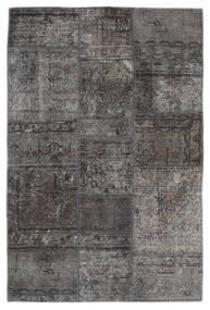 Patchwork - Persien/Iran Χαλι 105X159 Σύγχρονα Χειροποιητο Σκούρο Γκρι/Μαύρα (Μαλλί, Περσικά/Ιρανικά)